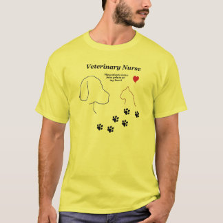 Veterinary Nurse-Paw Prints on My Heart T-Shirt