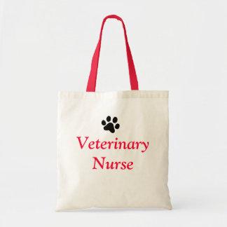 Veterinary Nurse with Black Paw Print Budget Tote Bag