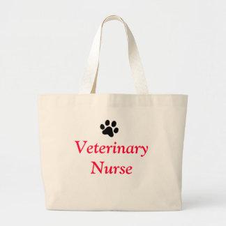 Veterinary Nurse with Black Paw Print Bag