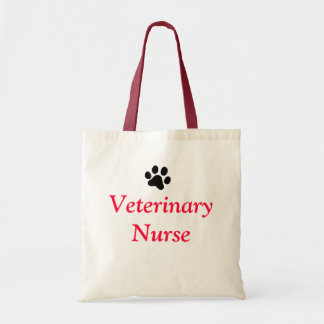 Veterinary Nurse with Black Paw Print Tote Bag