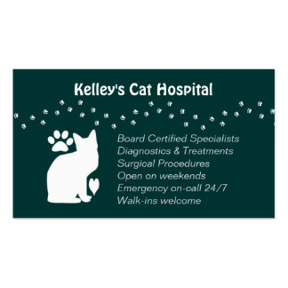 Veterinary Practice Feline Services U pick Color Pack Of Standard Business Cards