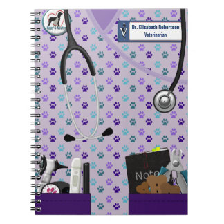 Veterinary Scrubs & Pockets Design Notebook