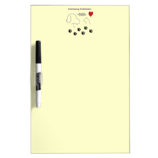 Veterinary Technician - Paw Prints on My Heart Dry Erase Board