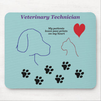 Veterinary Technician - Paw Prints on My Heart Mouse Pad