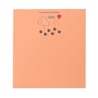 Veterinary Technician - Paw Prints on My Heart Notepads