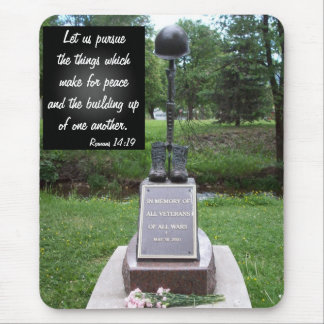 Vetern's Memorial with Romans 14-19 Mouse Pad
