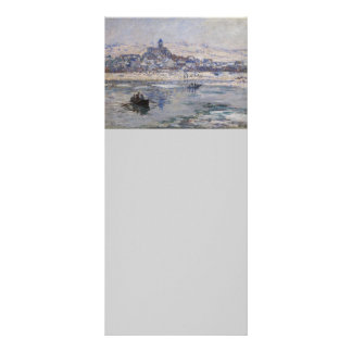 Vetheuil en Hiver Boat on River Personalized Rack Card