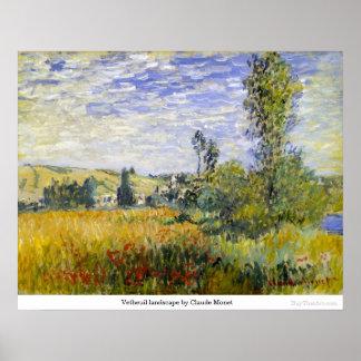 Vetheuil landscape by Claude Monet Poster