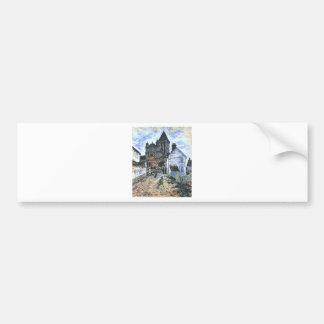 Vetheuil, The Church by Claude Monet Bumper Sticker