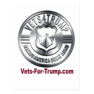 Vets for Trump Promotional Items Postcard