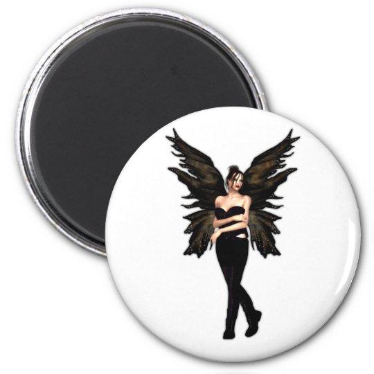 Veuvette Gothic Fairy 6 Cm Round Magnet