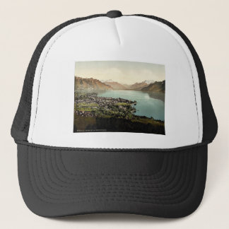 Vevey, and Dent du Midi, Geneva Lake, Switzerland Trucker Hat