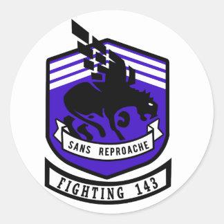 VF-143 Pukin' Dogs Round Sticker