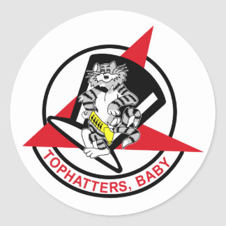 VF-14 Tophatters Classic Round Sticker