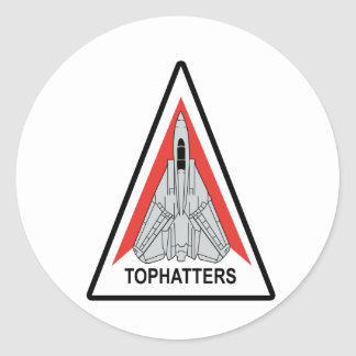 VF-14 Tophatters Round Sticker