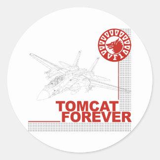 VF-1 Wolfpack F-14 Tomcat Round Sticker