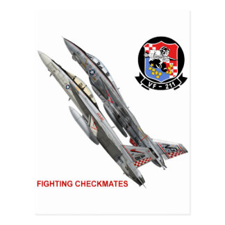 VF-211 Fighting Checkmates Postcard