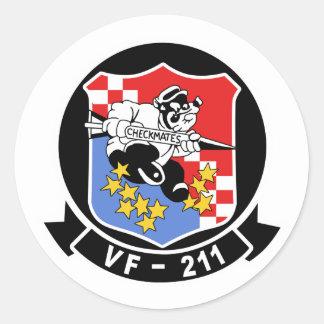 VF-211 Fighting Checkmates Round Sticker