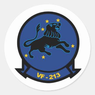 VF-213 Blacklions Round Sticker