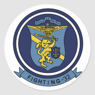 VF-32 Swordsmen F-14 トムキャット VF-32 スォーズメン Round Sticker