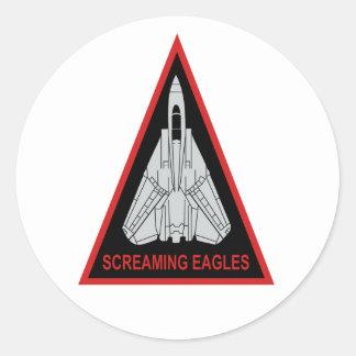 VF-51 Screaming Eagles Round Sticker