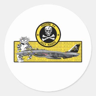 VF-84 JOLLY ROGERS F-14 TOMCAT ROUND STICKER