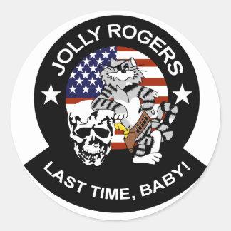 VF-84 Jolly Rogers Round Sticker