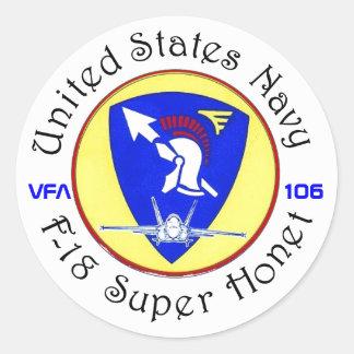 VFA-106 GLADIATORS ROUND STICKER