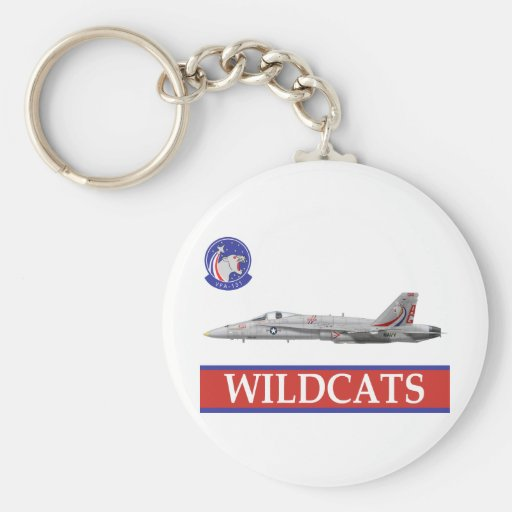 VFA-131 WILDCATS Squadron with F-18 Keychain