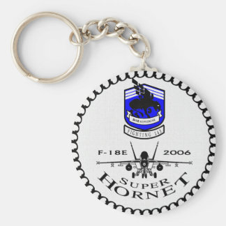 VFA-143 Pukin' Dogs - F-18 Super Hornets Basic Round Button Key Ring
