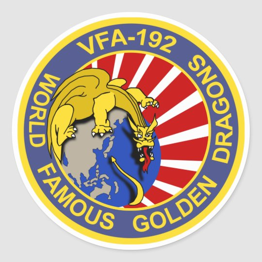 VFA-192 GOLDENDRAGONS Squadron Patch Classic Round Sticker