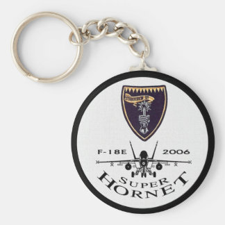 VFA-27 Royal Maces - F-18 Super Hornets Basic Round Button Key Ring