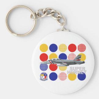 "VFA-2 ""Bounty Hunters"" F-18 Squadron Basic Round Button Key Ring"
