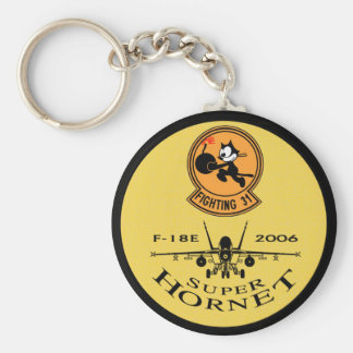 VFA-31 TOMCATTERS - F-18 Super Hornets Basic Round Button Key Ring