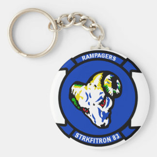 VFA-83 Rampagers Basic Round Button Key Ring