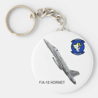 VFA-83 Rampagers with F-18 Hornet Keychain