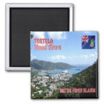 VG - British Virgin Islands - Tortola - Road Town Square Magnet