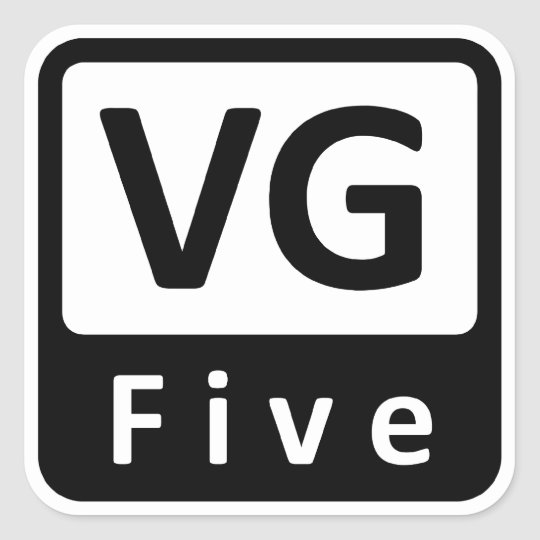 VGFive Rounded Sticker
