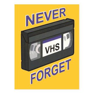 VHS, Never Forget Postcard
