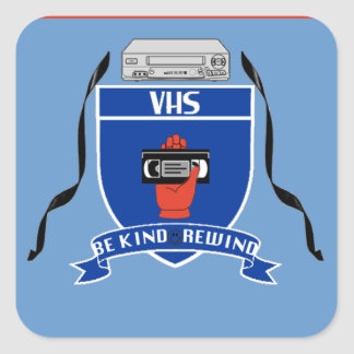 VHS - Square Sticker