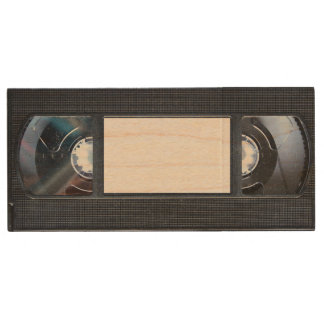 VHS Tape Wood USB 2.0 Flash Drive