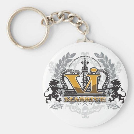 VI Massive Pride Design Basic Round Button Key Ring