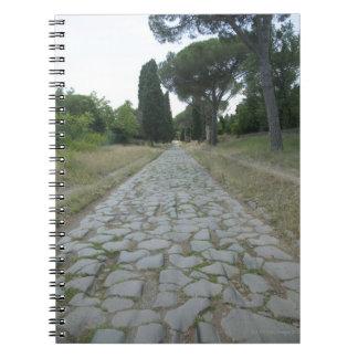 Via Appia  Appian way, roman roadway Notebook