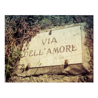 Via Dell' Amore (Street of Love) Italian Postcard