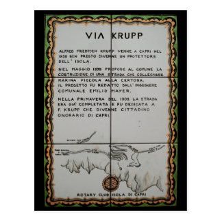via Krupp ceramic tile, Capri - Italy Postcard