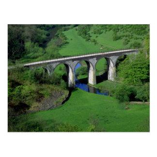 Viaduct, Monsal Dale, Peak District, Derbyshire, U Postcard