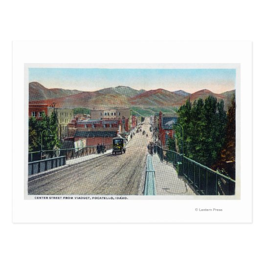 Viaduct View of Centre StreetPocatello, ID Postcard