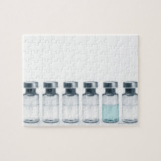 Vials containing medicine for injections. This Jigsaw Puzzle