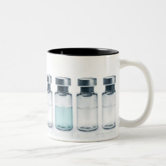 Vials containing medicine for injections. This Two-Tone Coffee Mug