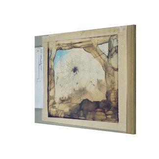 Vianden through a Spider's Web Canvas Print